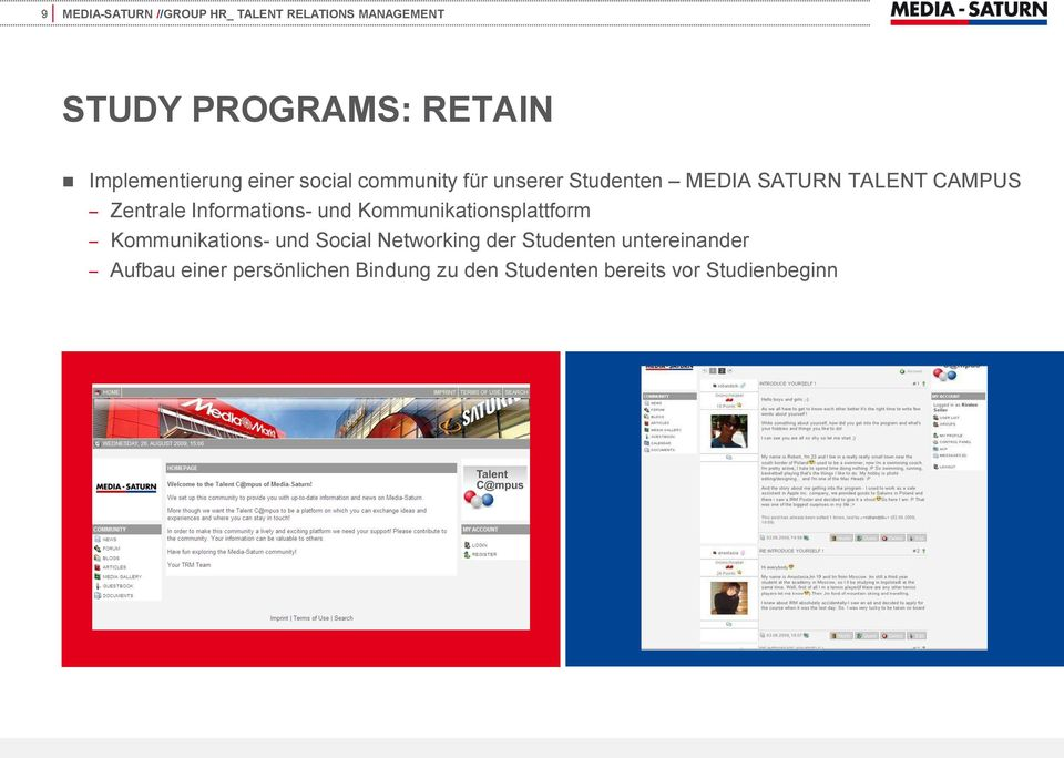 Kommunikationsplattform Kommunikations- und Social Networking der Studenten