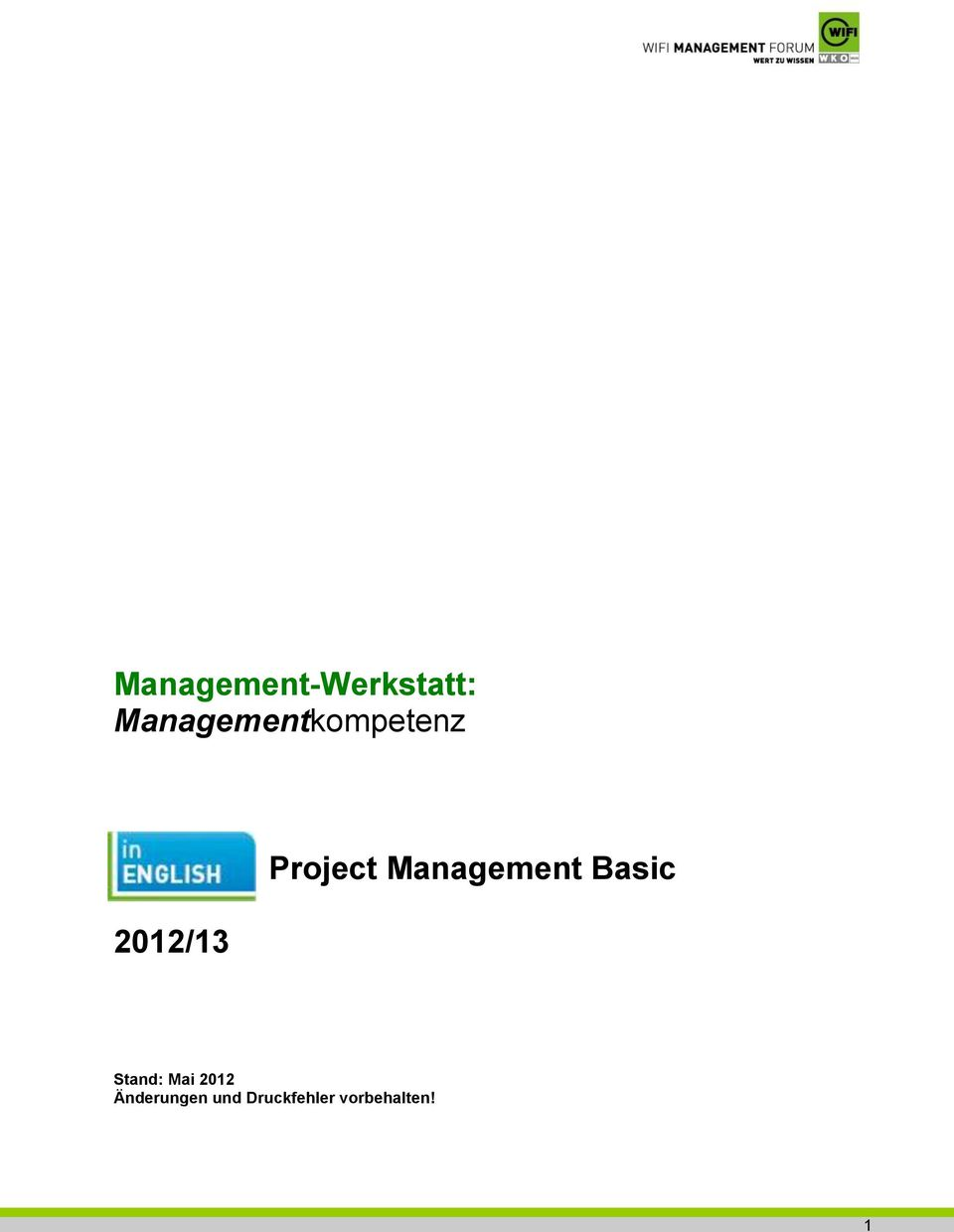 Project Management Basic Stand: