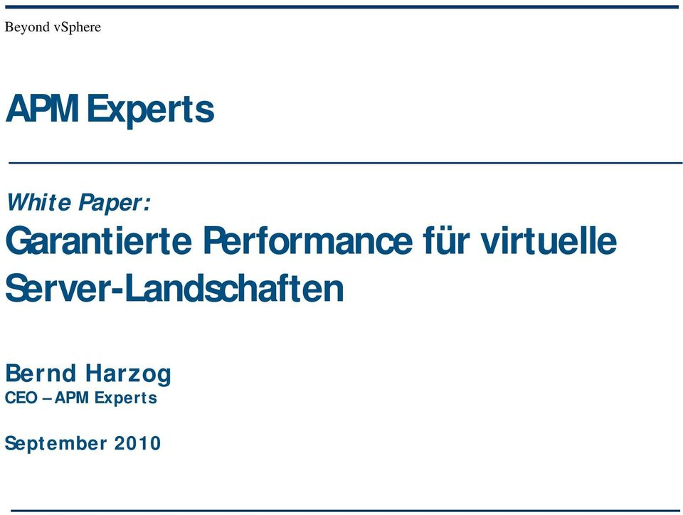 virtuelle Server-Landschaften