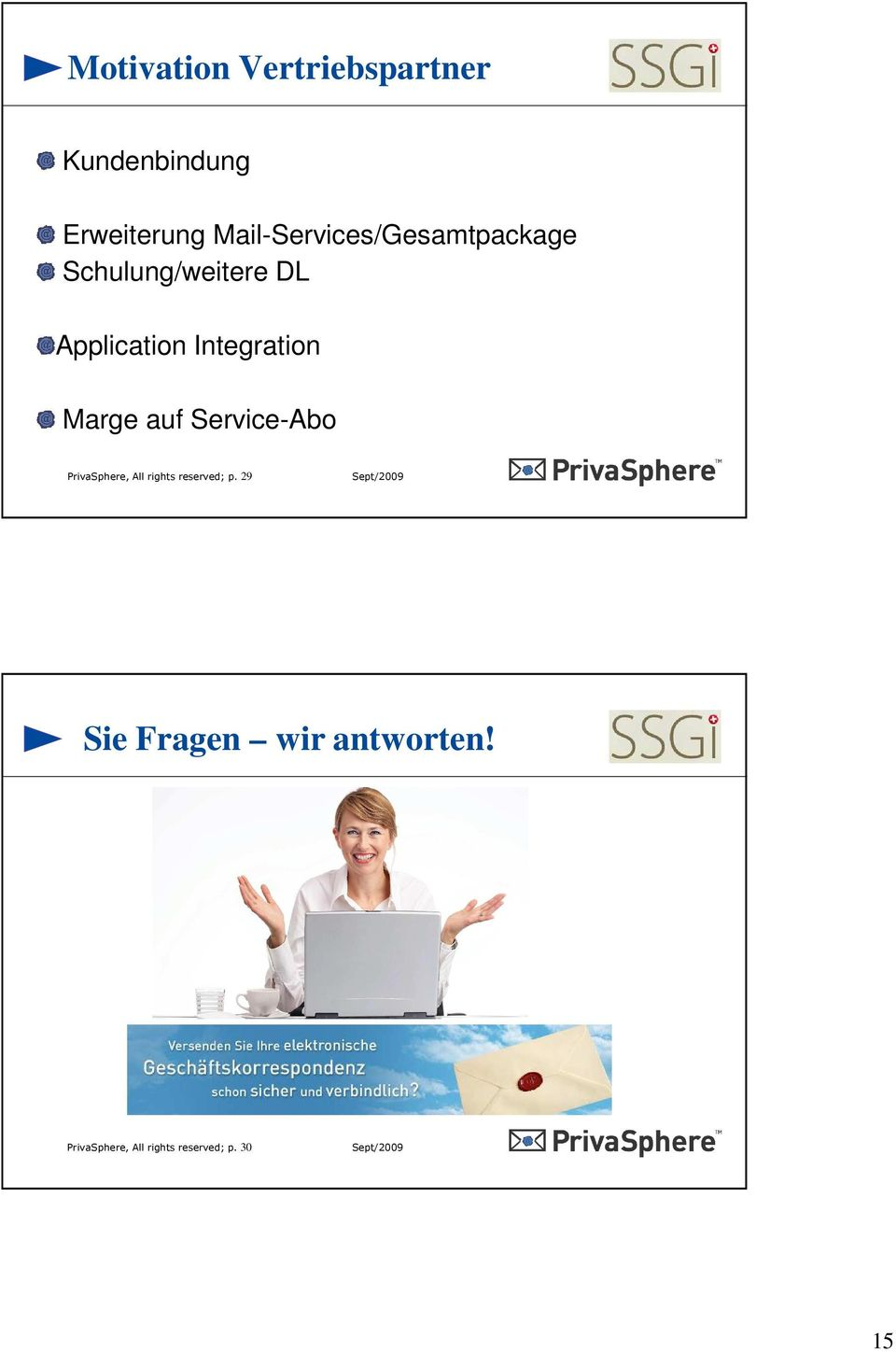 Integration Marge auf Service-Abo PrivaSphere, All rights