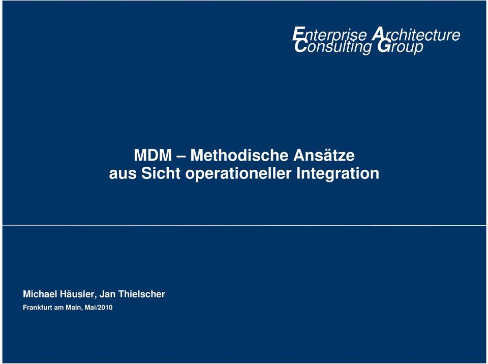 operationeller Integration Michael