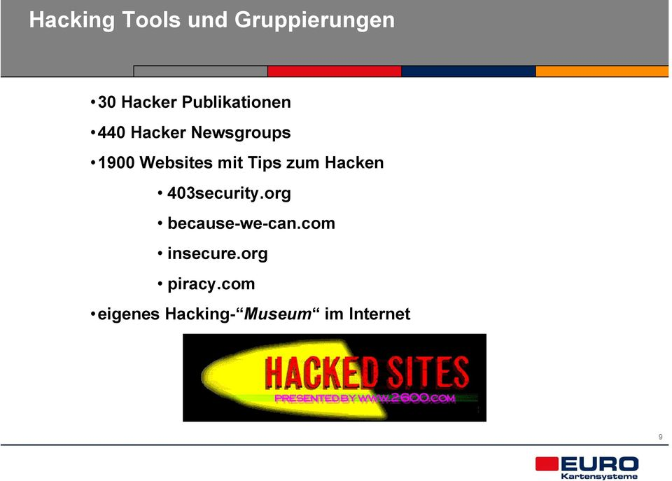 mit Tips zum Hacken 403security.org because-we-can.