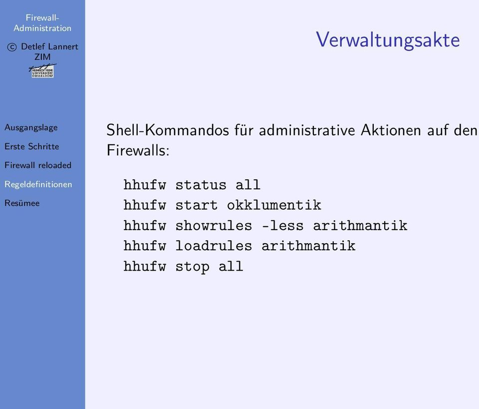 status all hhufw start okklumentik hhufw