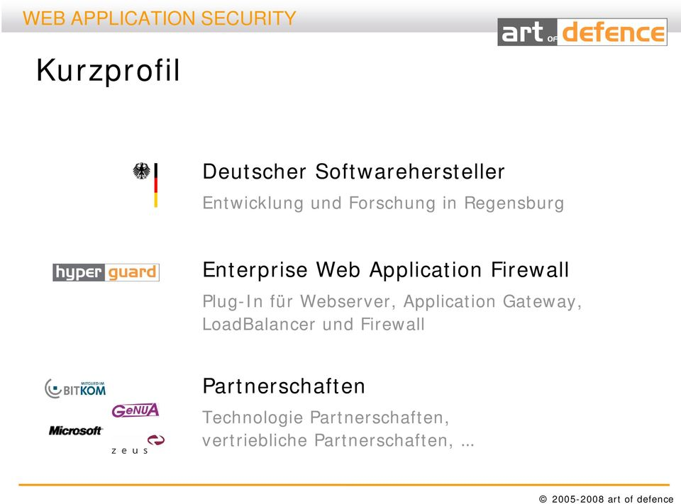 Webserver, Application Gateway, LoadBalancer und Firewall