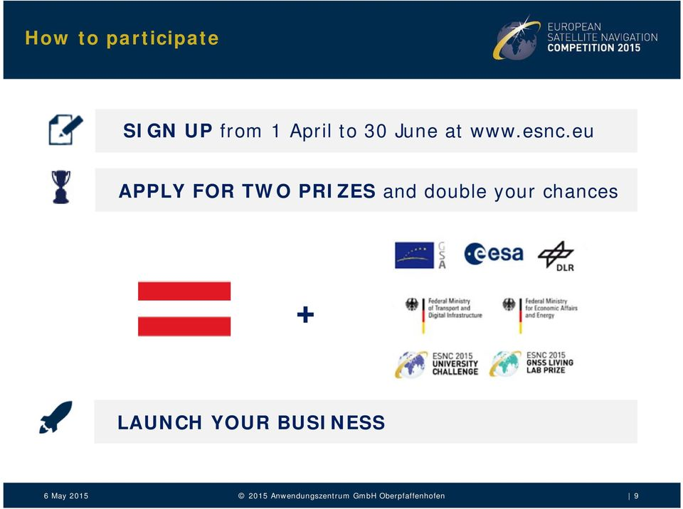 eu APPLY FOR TWO PRIZES and