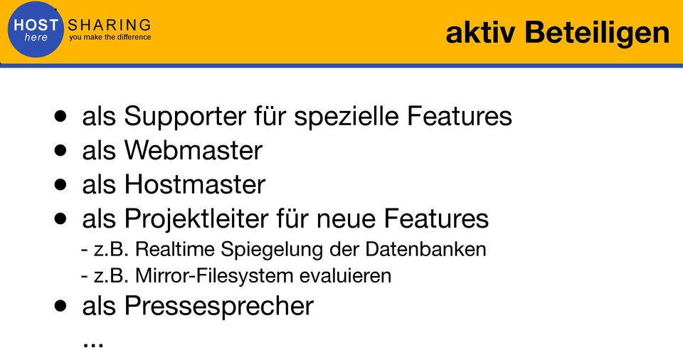 neue Features - z.b.