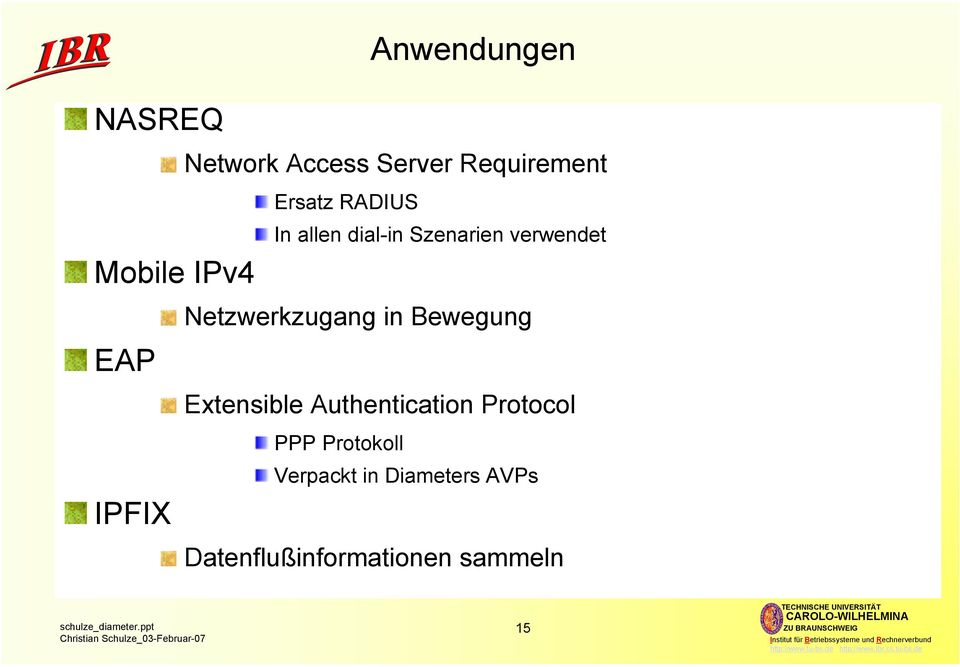 Netzwerkzugang in Bewegung Extensible Authentication Protocol PPP