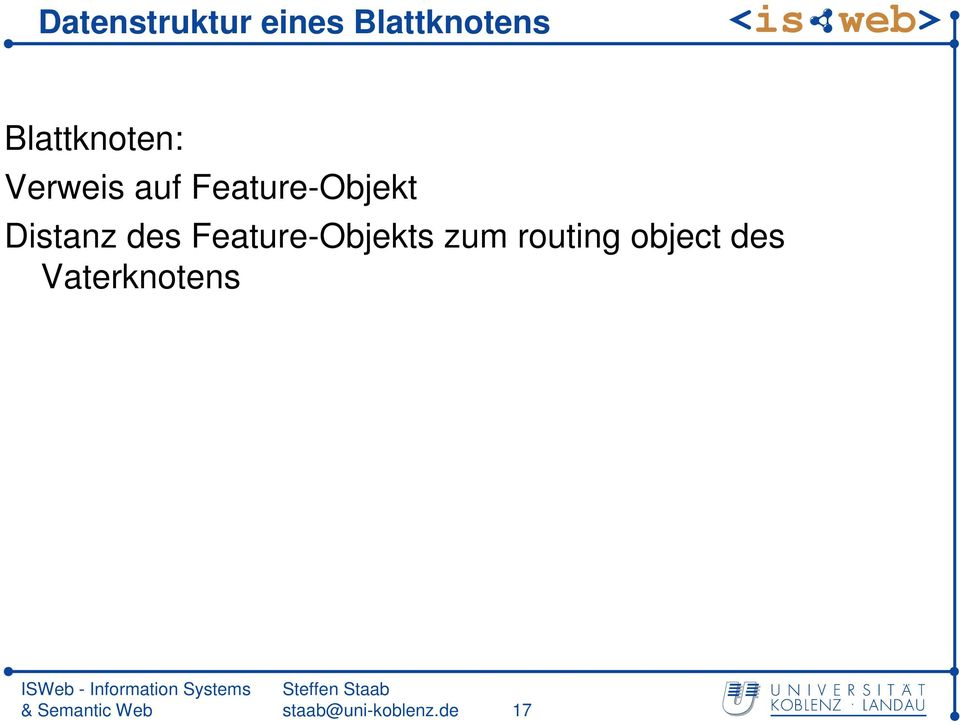 Distanz des Feature-Objekts zum routing