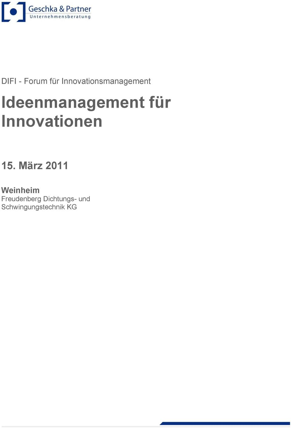 Ideenmanagement für Innovationen 15.