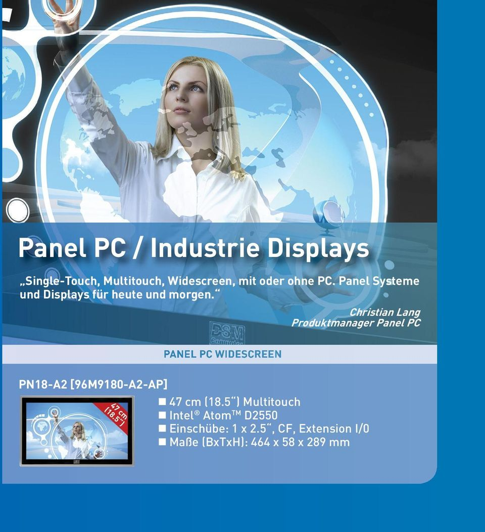 Christian Lang Produktmanager Panel PC PANEL PC WIDESCREEN PN18-A2 [96M9180-A2-AP]
