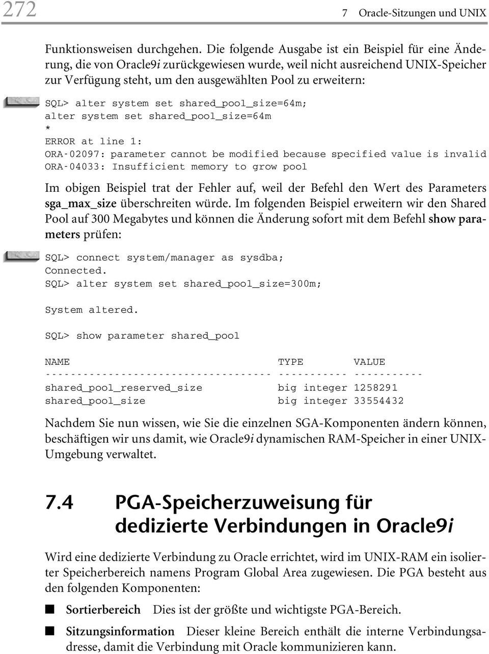 Oracle9i unix administrations handbuch pdf for Show parameter pool