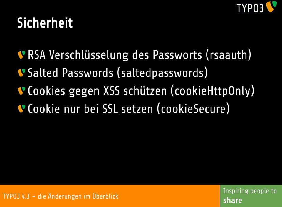(saltedpasswords) Cookies gegen XSS