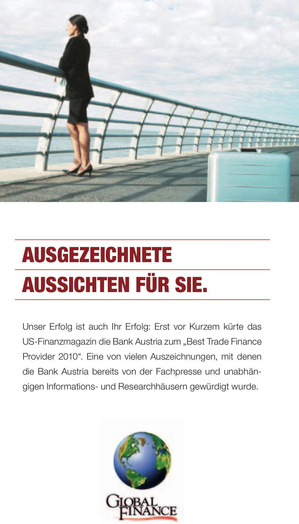 die Bank Austria zum Best Trade Finance Provider 2010.
