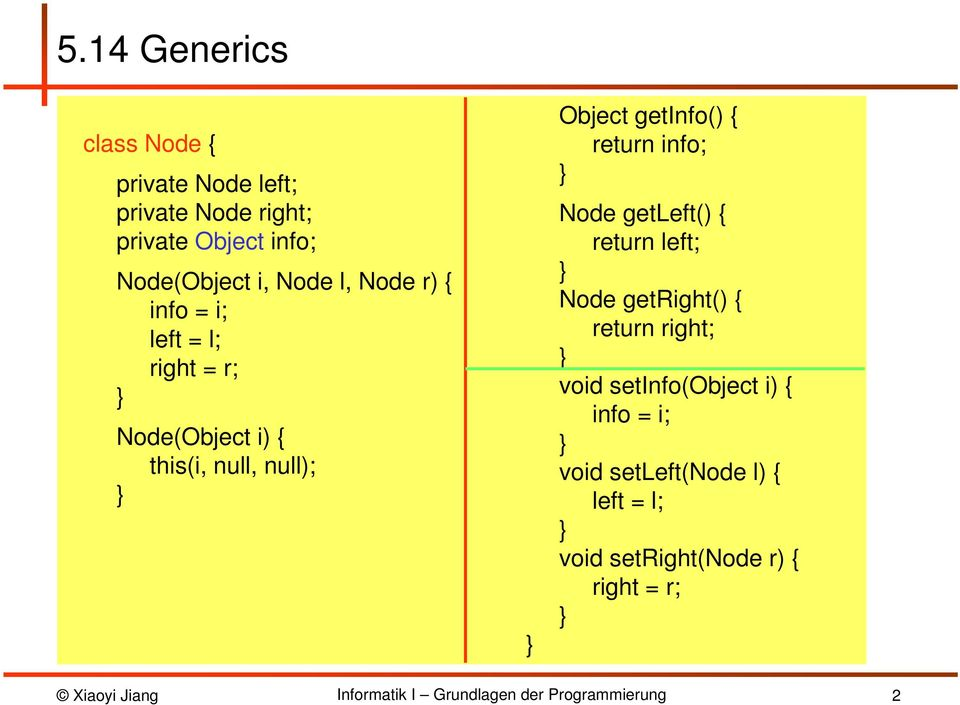 getinfo() { return info; Node getleft() { return left; Node getright() { return right; void
