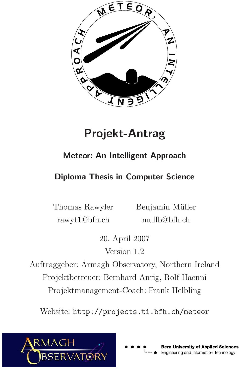 diploma thesis in computer science Earn a degree in computer science or human-robot interaction  time:  complete your ms degree in only one year, or in two years with an optional  thesis.