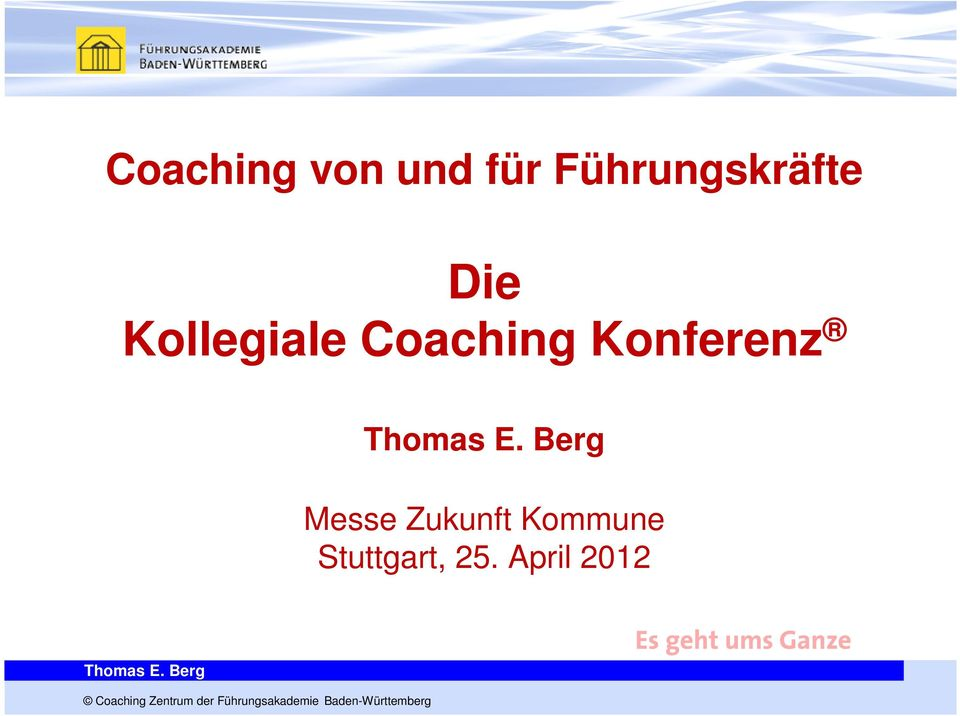 Coaching Konferenz Messe