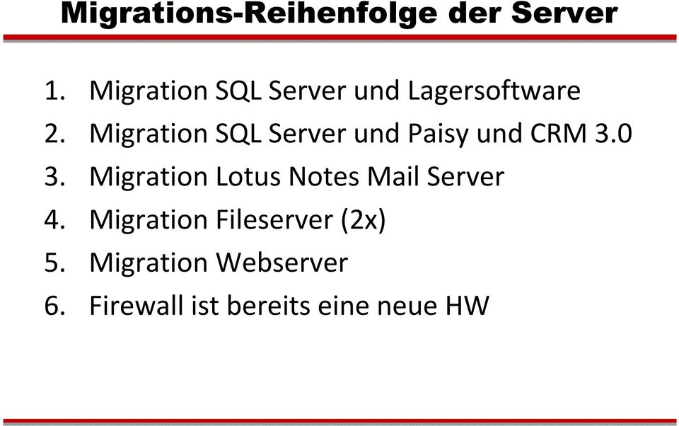 Migration SQL Server und Paisyund CRM 3.0 3.