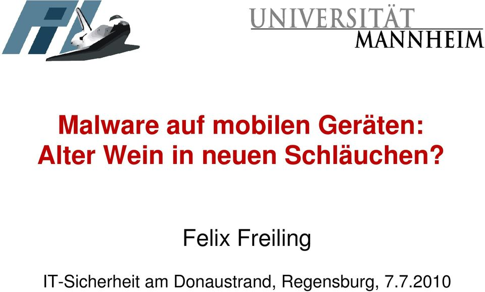Felix Freiling IT-Sicherheit am