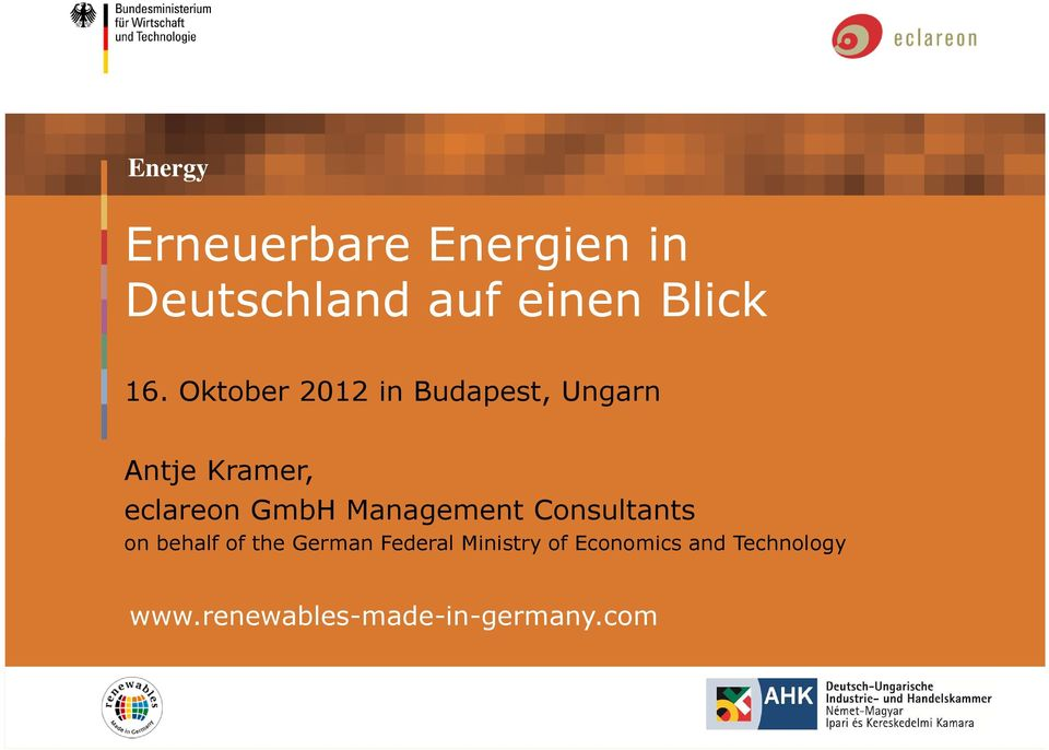Management Consultants on behalf of the German Federal