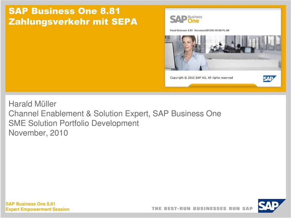 Enablement & Solution Expert, SAP Business One SME