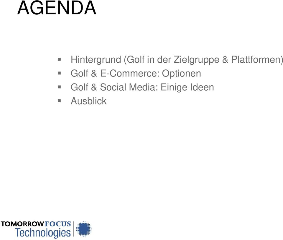 & E-Commerce: Optionen Golf &