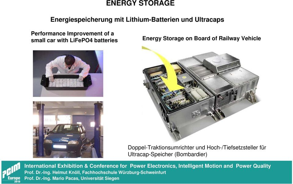 batteries Energy Storage on Board of Railway Vehicle