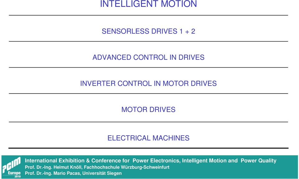 DRIVES INVERTER CONTROL IN MOTOR