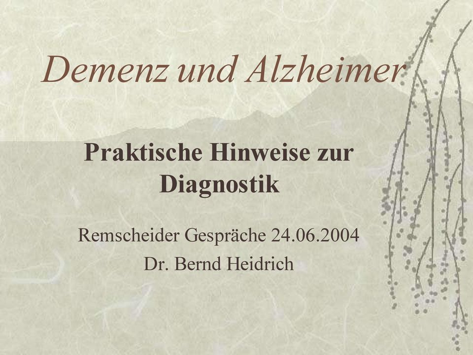 Diagnostik Remscheider