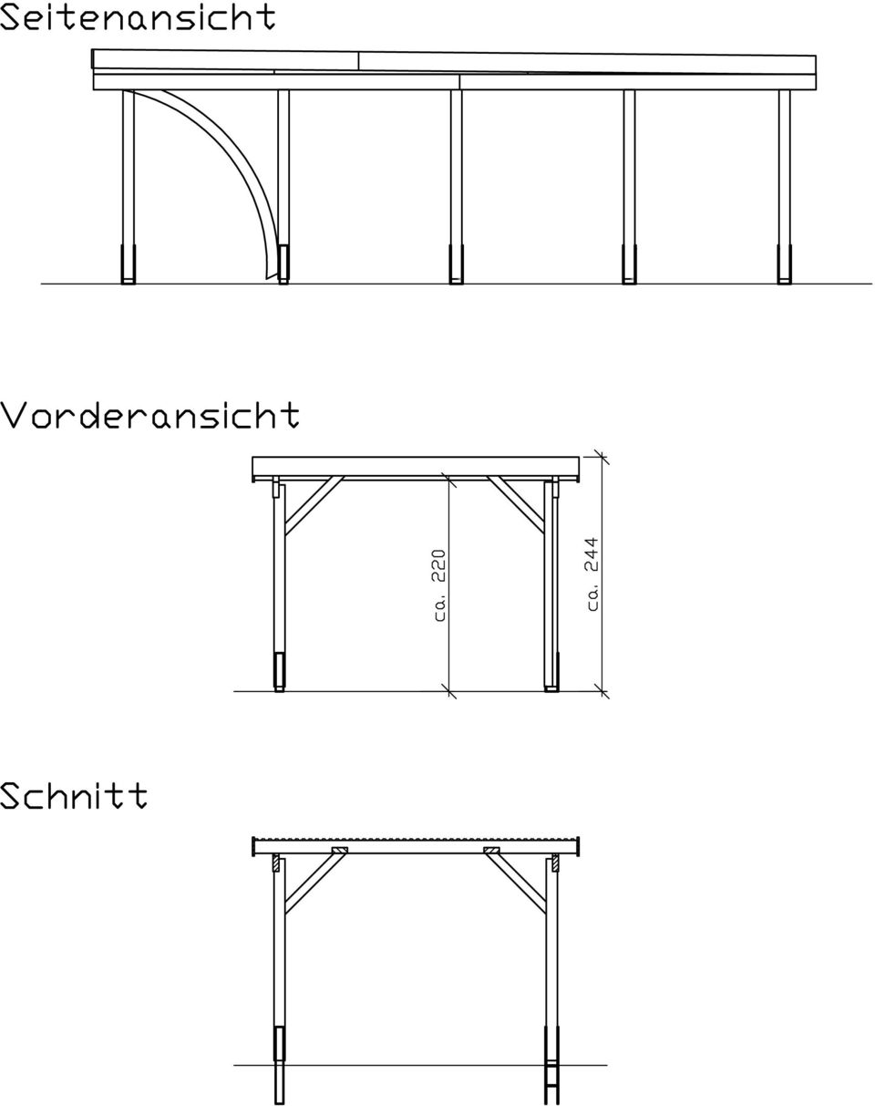 montageanleitung f r einzel carport douglasie b 340 x t 760 cm typ m nchen 2 typ bmxvi pdf. Black Bedroom Furniture Sets. Home Design Ideas