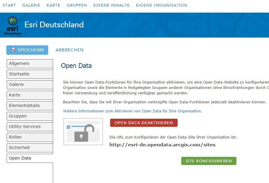 ArcGIS Open Data ist