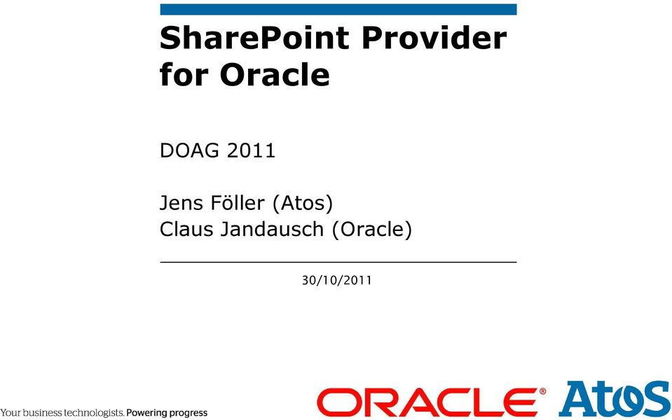 Oracle DOAG