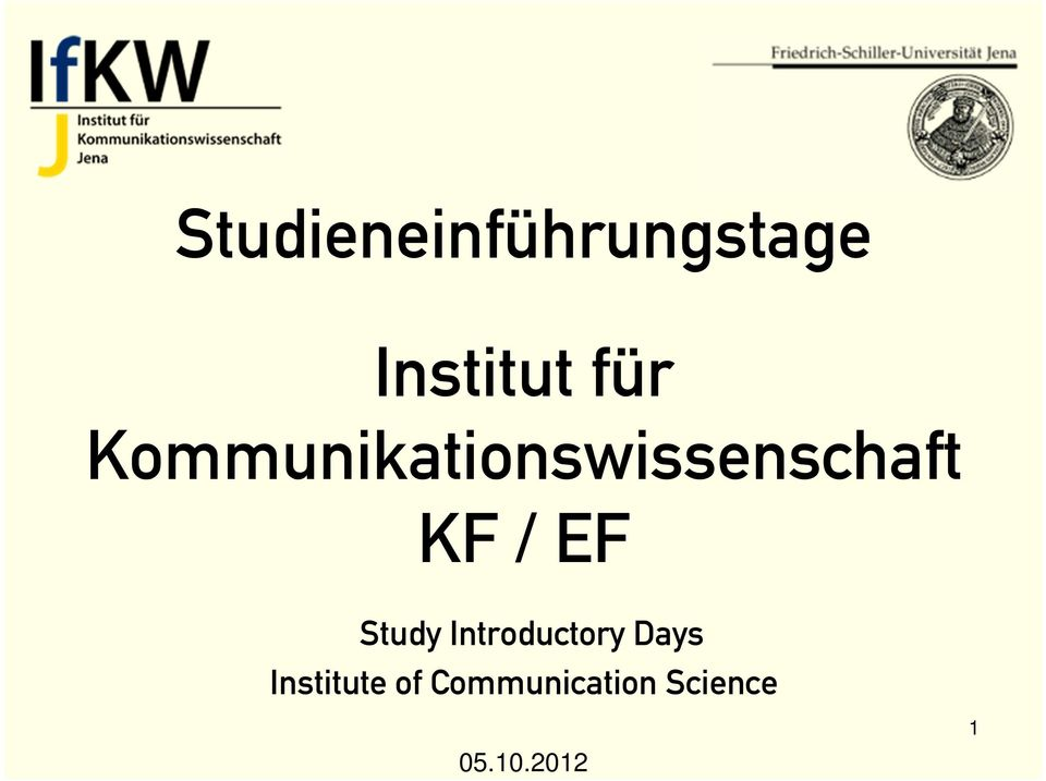 Study Introductory Days Institute