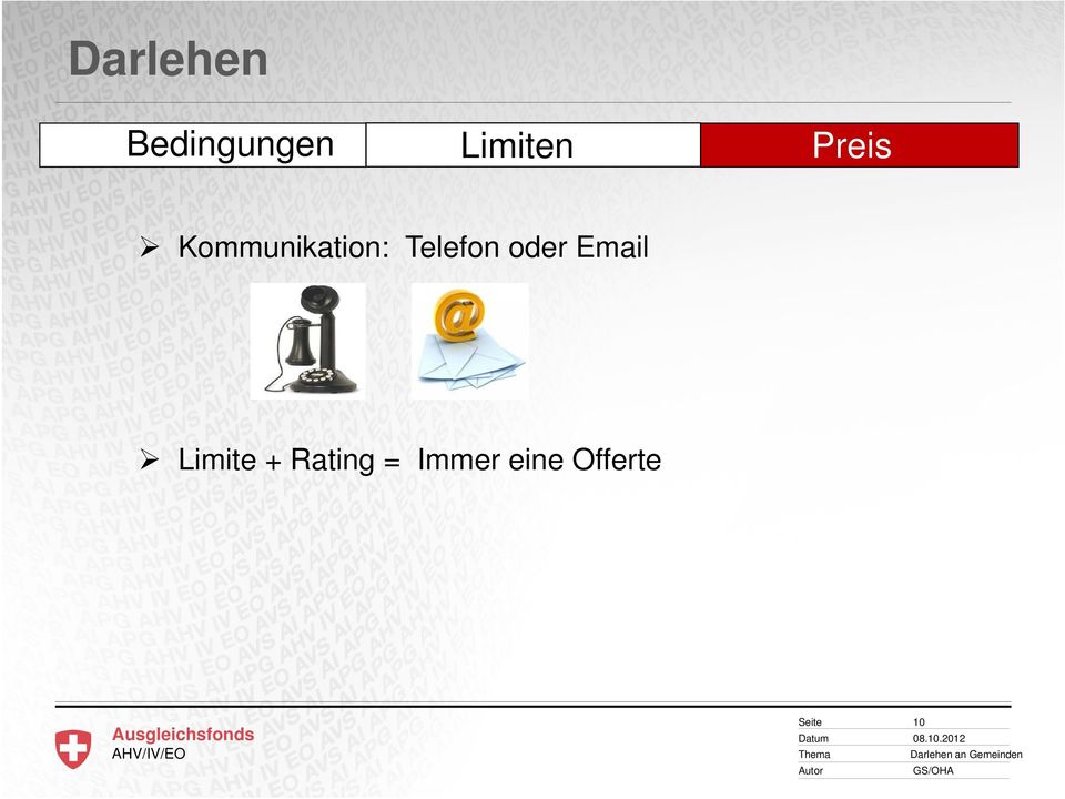 oder Email Limite + Rating =