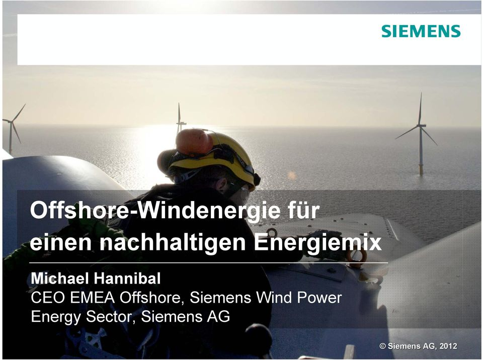 Siemens Wind Power Energy Sector, Siemens AG