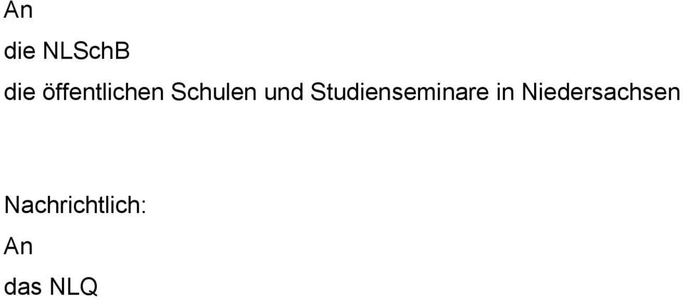 Studienseminare in