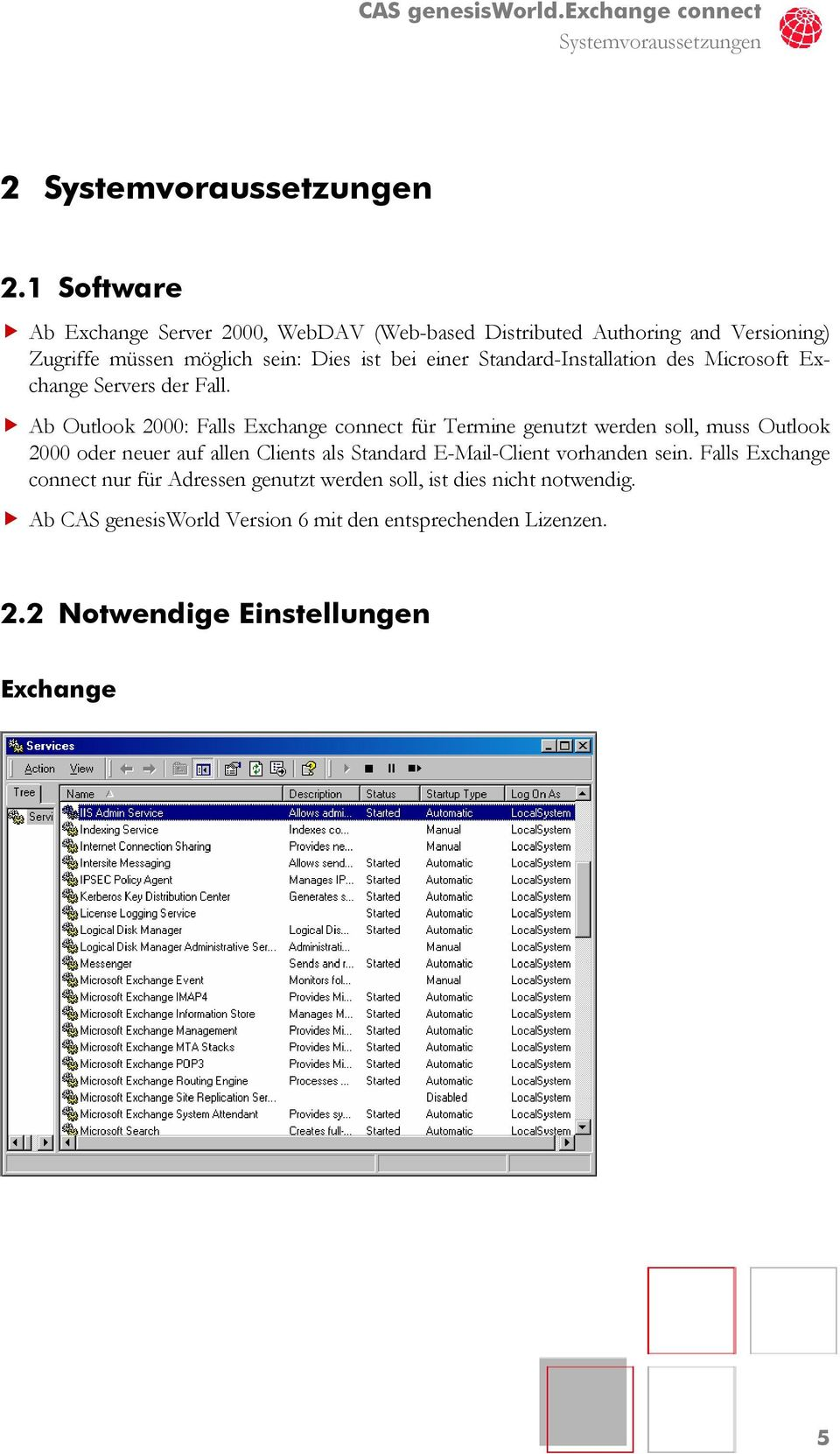 Standard-Installation des Microsoft Exchange Servers der Fall.