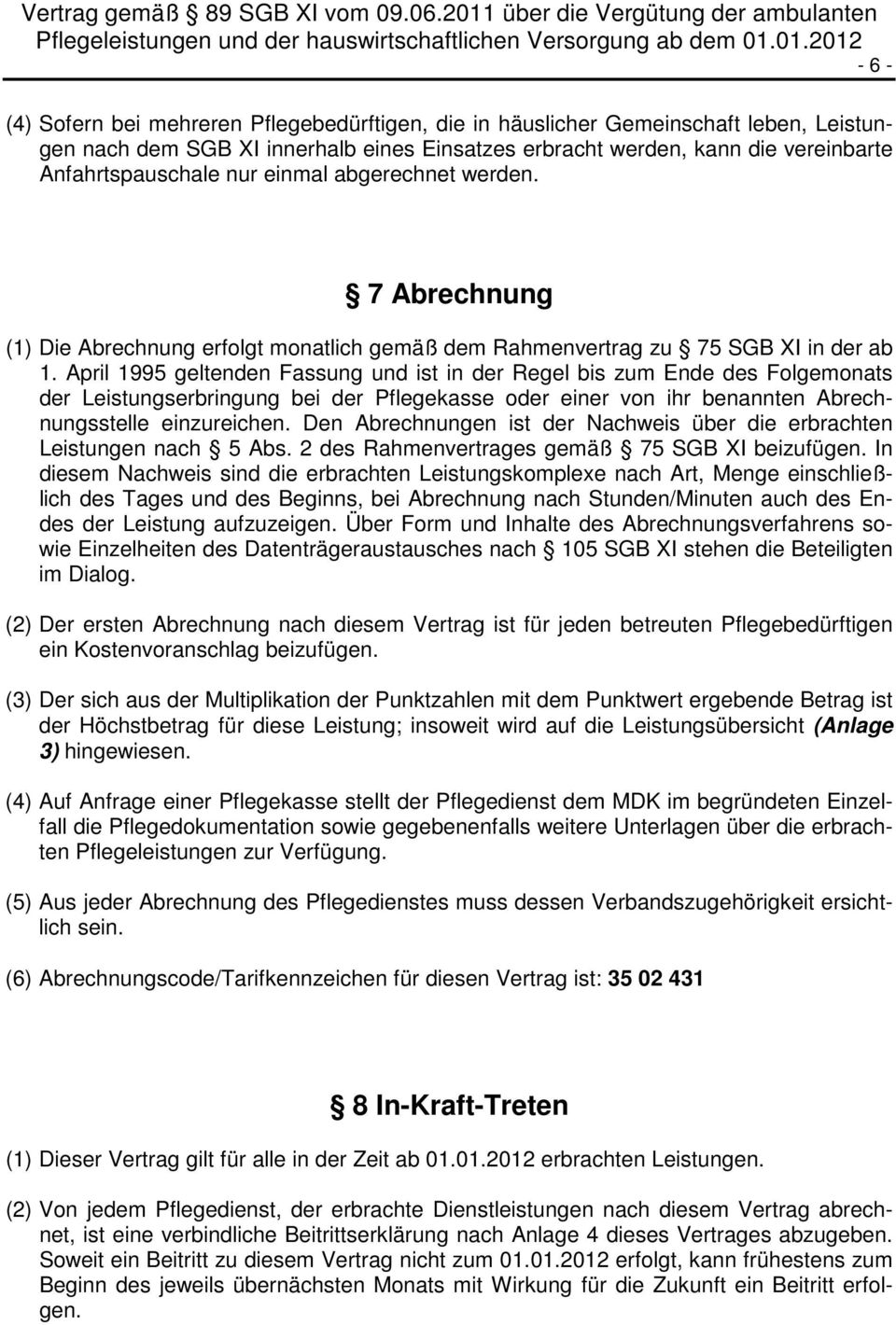vertrag gem 89 sgb xi vom pdf. Black Bedroom Furniture Sets. Home Design Ideas