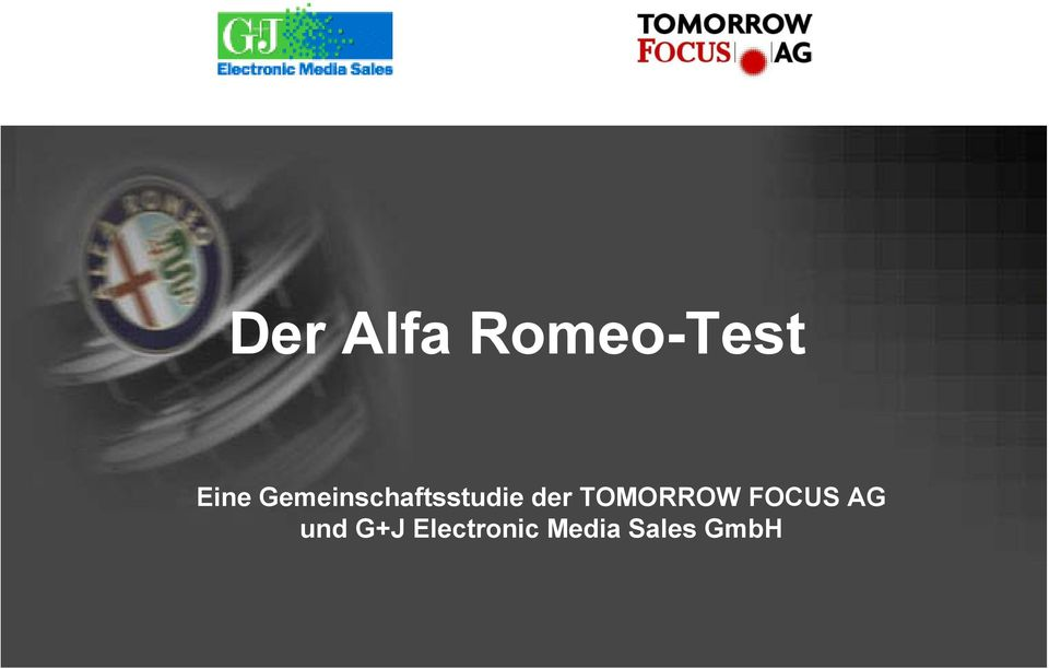 TOMORROW FOCUS AG und G+J