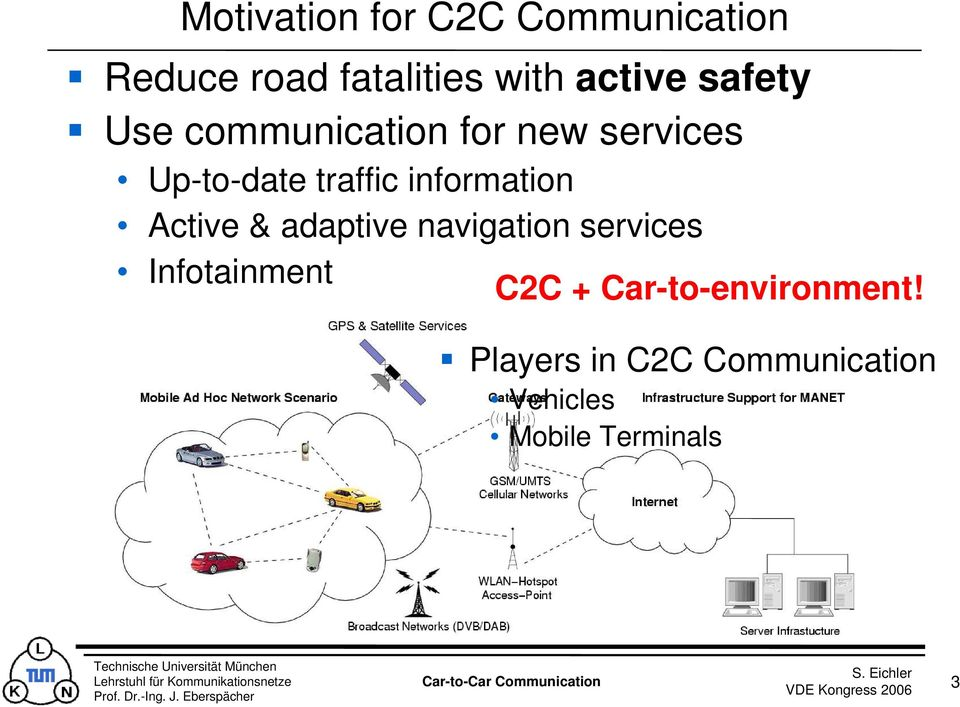 information Active & adaptive navigation services Infotainment C2C +