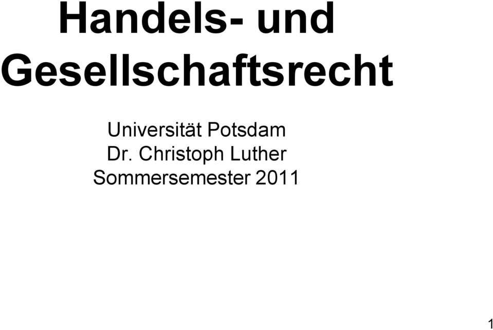 Universität Potsdam Dr.