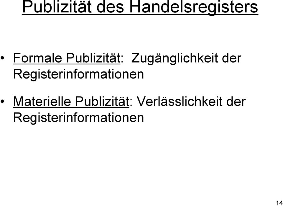 Registerinformationen Materielle