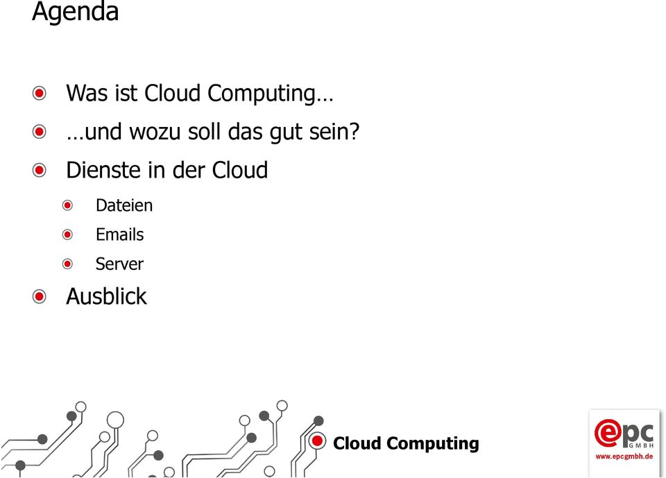 Dienste in der Cloud