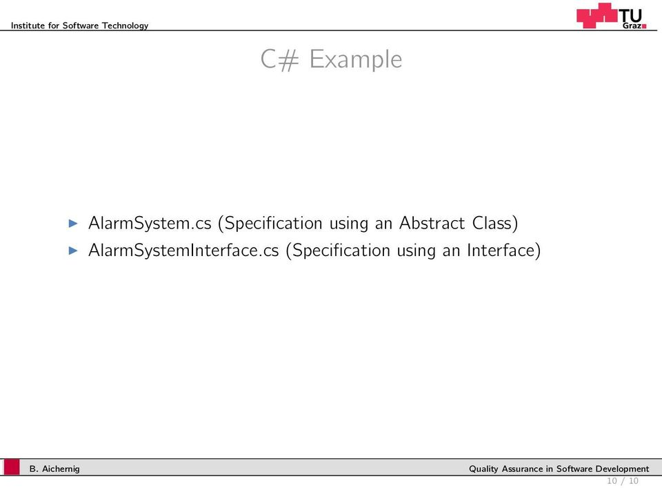 cs (Specificaion using an Absrac