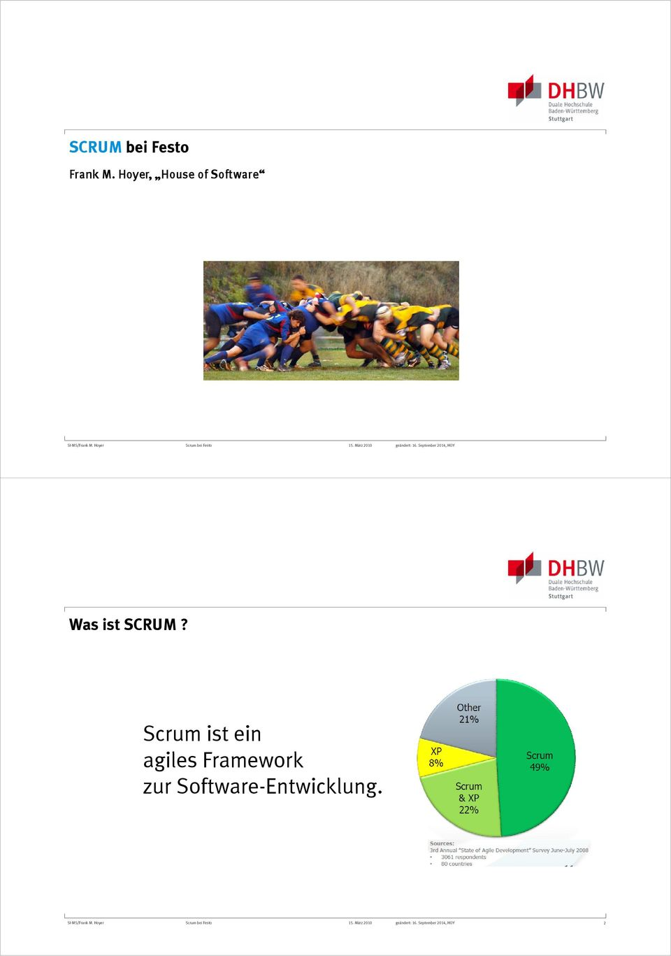 September 2014, HOY Was ist SCRUM?