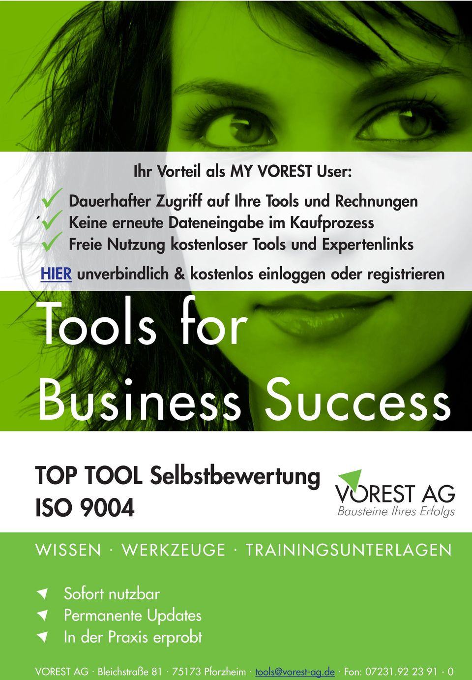 Tools for Business Success TOP TOOL Selbstbewertung ISO 9004 WISSEN. WERKZEUGE.