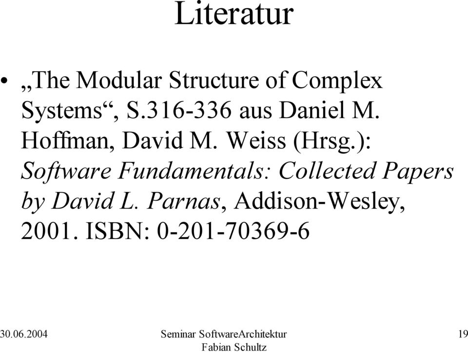 ): Software Fundamentals: Collected Papers by David L.