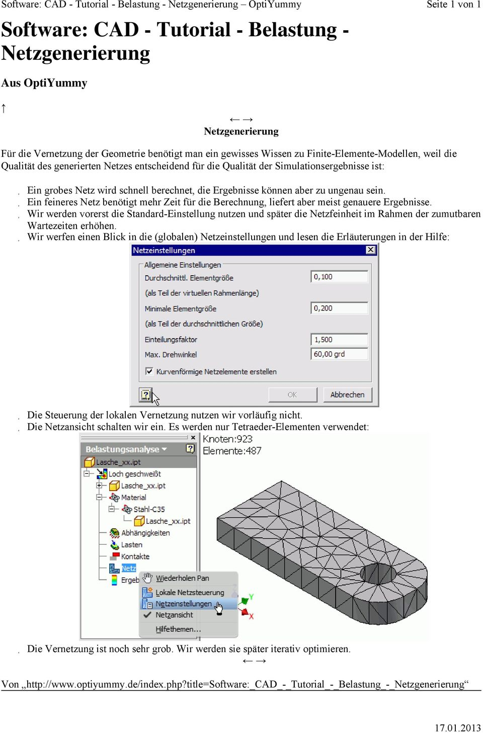 Software: CAD - Tutorial - Belastungsanalyse - PDF