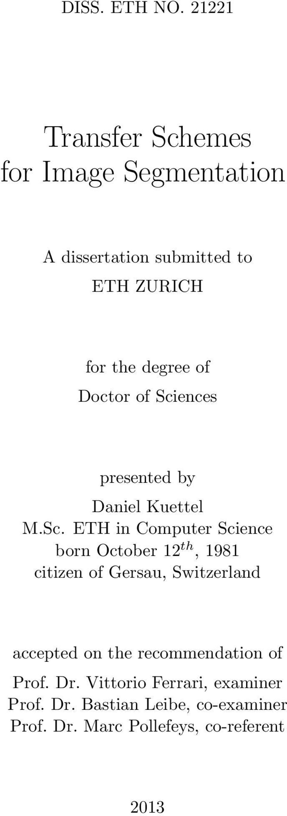 of Doctor of Sci