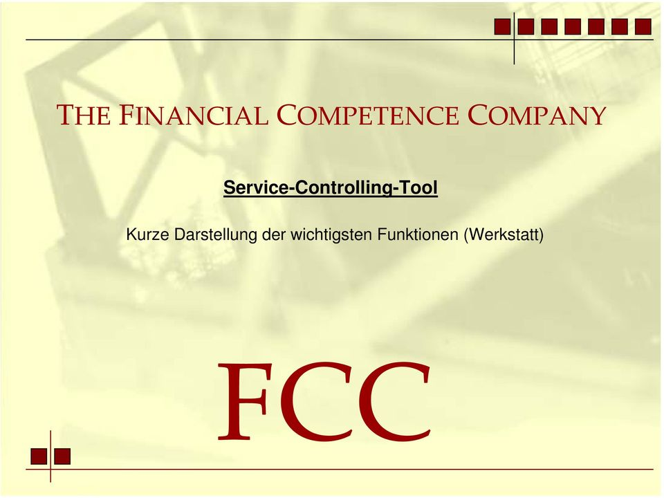 Service-Controlling-Tool