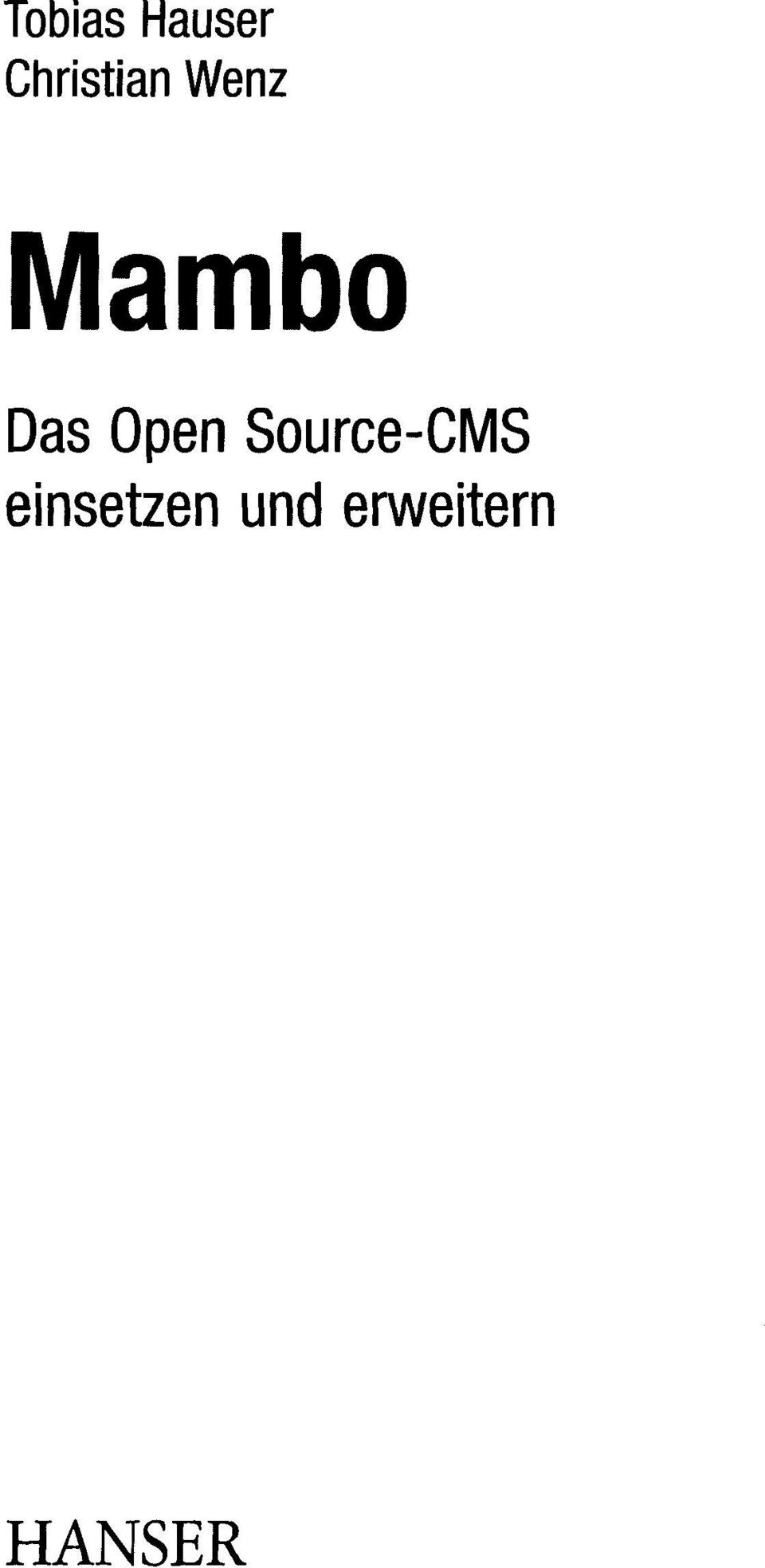 Das Open Source-CMS